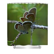 Blue 2 Together Shower Curtain