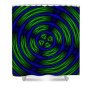 Blue And Green Abstract Shower Curtain