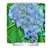 Blue And Green Flora Shower Curtain
