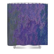 Blue And Purple Stone Abstract Shower Curtain