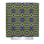 Blue And Yellow Chevron Pattern Shower Curtain