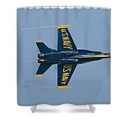 Blue Angel Break Shower Curtain