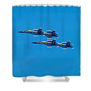 Blue Angels 3 Shower Curtain
