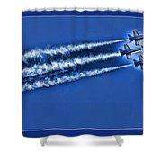 Blue Angels Liftoff Shower Curtain