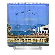 Blue Angels San Francisco Wharf Shower Curtain