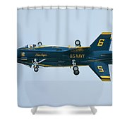 Blue Angels Solo Mirror Shower Curtain
