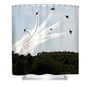 Blue Angels Star Burst Shower Curtain
