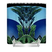 Blue Arches Shower Curtain