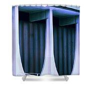 Blue Bank Shower Curtain