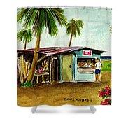 Blue Beach Shack Los Pinones Puerto Rico Shower Curtain