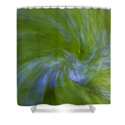 Blue Bells Vortex 1 Shower Curtain