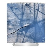 Blue Blackberry Shadows Shower Curtain