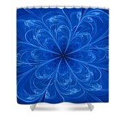 Blue Bloom Shower Curtain