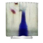 Blue Bottle Shower Curtain