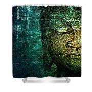 Blue Buddha Shower Curtain