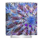 Blue Cactus Shower Curtain