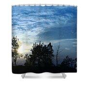 Blue Canvas Sky 03 Shower Curtain by Aimelle