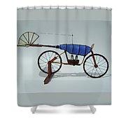 Blue Caravan Shower Curtain by Jim Casey