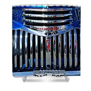 Blue Chevy Pick-up Grill Shower Curtain