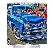 Blue Classic Hdr Shower Curtain