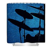 Blue Cymbalism  Shower Curtain