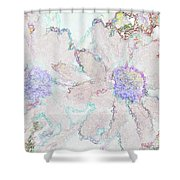 Blue Daisies IIi Shower Curtain