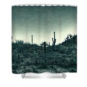 Blue Desert  Shower Curtain