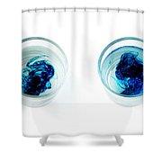 Blue Dye In Water Shower Curtain