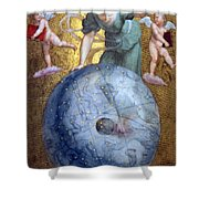 Blue Earth Shower Curtain