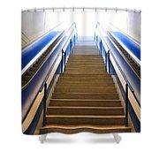 Blue Escalators Shower Curtain