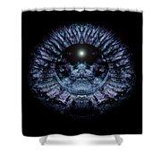 Blue Eye Sphere Shower Curtain by David Kleinsasser