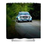 Blue Fiat Abarth Shower Curtain