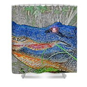 Blue Gator Shower Curtain