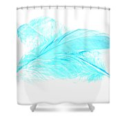 Blue Ghost Shower Curtain