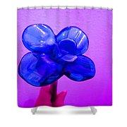 Blue Glass Purple Wall Pink Hand Shower Curtain