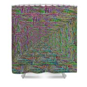 Blue Green Abstract Shower Curtain