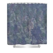 Blue Grey Abstract Shower Curtain