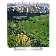 Blue Grouse Pass, Willmore Wilderness Shower Curtain