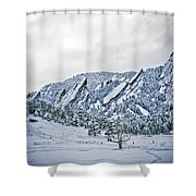 Blue Ice 1 Shower Curtain