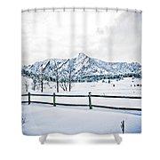 Blue Ice 3 Shower Curtain