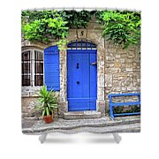 Blue In Provence France Shower Curtain