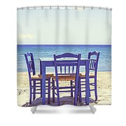 Blue Shower Curtain by Joana Kruse