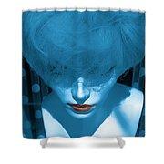 Blue Kiss Shower Curtain
