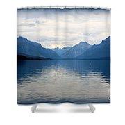 Blue Lake Mcdonald Shower Curtain
