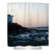 Blue Marina Paros Shower Curtain