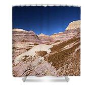 Blue Mesa Landscape Shower Curtain
