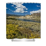 Blue Mesa Reservoir - V Shower Curtain