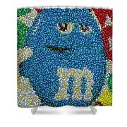 Blue Mm Mosaic Shower Curtain
