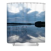 Blue Moment Shower Curtain