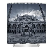 Blue Mosque Courtyard Shower Curtain